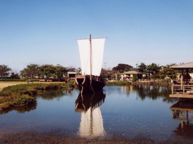 日和山公園の千石船
