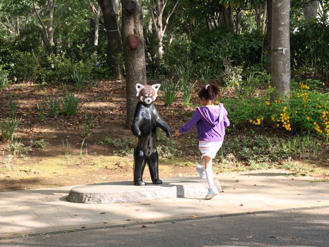 レッサーパンダ風太の像@千葉市動物公園