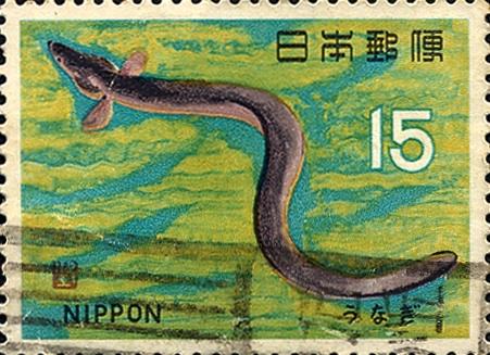 ウナギ(1966年・第6次魚介シリーズ)