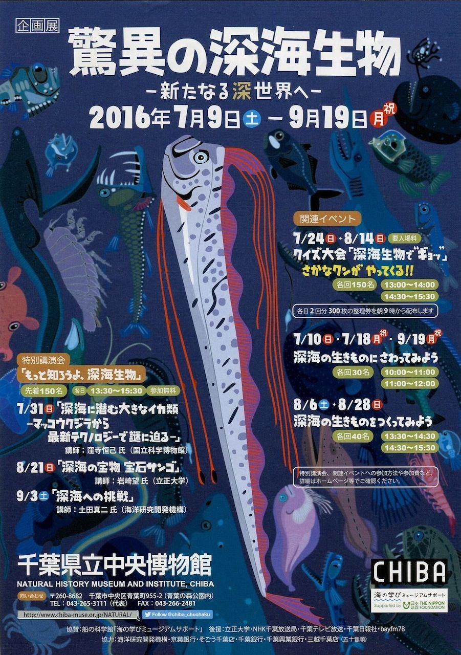 千葉県立中央博物館「驚異の深海生物」展
