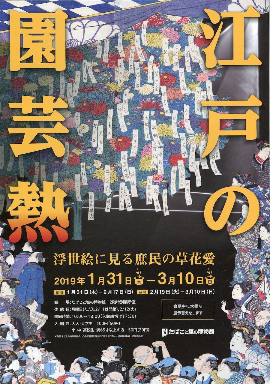 たばこと塩の博物館特別展「江戸の園芸熱」